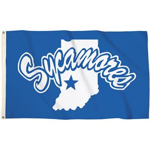 Collegiate Indiana State 3'x5' Flag w/Grommets