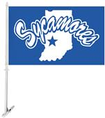 Collegiate Indiana State 2-Sided 11x18 Car Flag