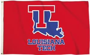 Collegiate LA Tech Red 3'x5' Flag w/Grommets