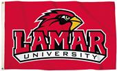 Collegiate Lamar Red 3'x5' Flag w/Grommets