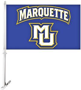 Collegiate Marquette 2-Sided 11x18 Car Flag