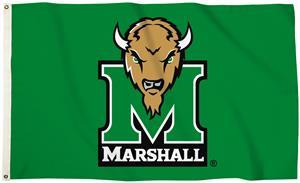 Collegiate Marshall Logo 3'x5' Flag w/Grommets