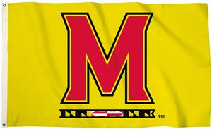 Collegiate Maryland Logo 3'x5' Flag w/Grommets