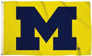Collegiate Michigan 3'x5' Flag w/Grommets