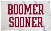 Collegiate Oklahoma White 3'x5' Flag w/Grommets