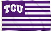 Collegiate TCU Stripes 3'x5' Flag w/Grommets