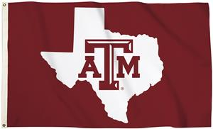 Collegiate Texas A&M 3'x5' Flag w/Grommets