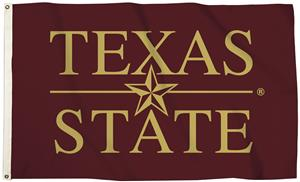 Collegiate Texas State 3'x5' Flag w/Grommets