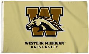 Collegiate Western Michigan 3'x5' Flag w/Grommet