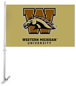 Collegiate Western Michigan 2-Sided 11x18 Car Flag