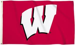 Collegiate Wisconsin 3'x5' Flag w/Grommet