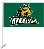 Collegiate Wright State 2-Sided 11x18 Car Flag