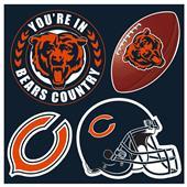 NFL Chicago Bears 4 Piece Magnet Set