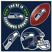 NFL Seattle Seahawks 4 Piece Magnet Set