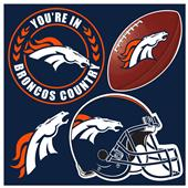 NFL Denver Broncos 4 Piece Magnet Set