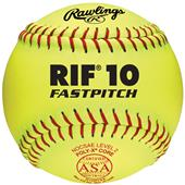 "Rawlings 12"" RIF 10 ASA ProTac Fastpitch Softballs"
