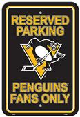 BSI NHL Pittsburgh Penguins Plastic Parking Sign