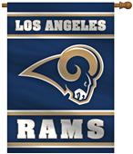 "NFL LA Rams 2-Sided 28""x40"" Banner"