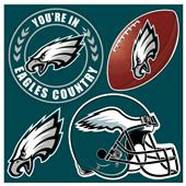 NFL Philadelphia Eagles 4 Piece Magnet Set