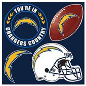 NFL San Diego Chargers 4 Piece Magnet Set