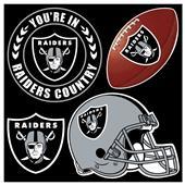 NFL Oakland Raiders 4 Piece Magnet Set