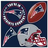 NFL New England Patriots 4 Piece Magnet Set
