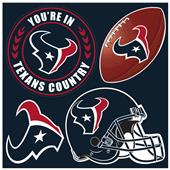 NFL Houston Texans 4 Piece Magnet Set