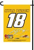 BSI NASCAR Kyle Busch #18 2-Sided Garden Flag