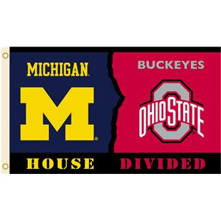 Collegiate Michigan/Ohio St Rivalry House Flag