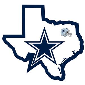 NFL Dallas Cowboys Home State Decal