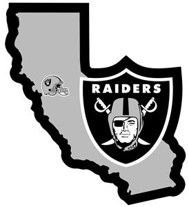 NFL Oakland Raiders Home State Decal