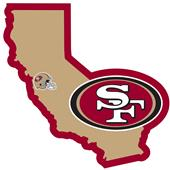 NFL San Francisco 49er's Home State Decal