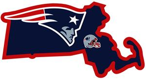 NFL New England Patriots Home State Decal