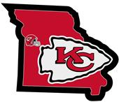 NFL Kansas City Chiefs Home State Decal