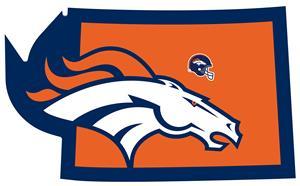 NFL Denver Broncos Home State Decal