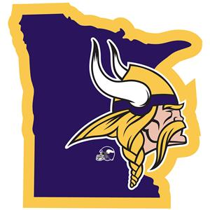 NFL Minnesota Vikings Home State Decal