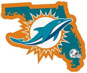 NFL Miami Dolphins Home State Decal