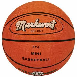 Markwort Mini Size 3 Orange Rubber Basketball