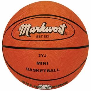 Markwort Mini Size 3 Orange Rubber Basketball