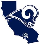 NFL Los Angeles Rams Home State Decal