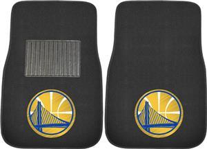 Fan Mats NBA Warriors Embroidered Car Mat (set)