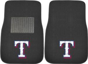 Fan Mats MLB Rangers Embroidered Car Mat (set)