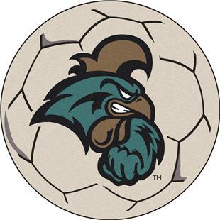 Fan Mats NCAA Coastal Carolina Soccer Ball Mat