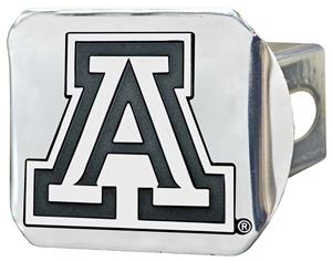Fan Mats NCAA Arizona Chrome Hitch Cover