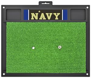 Fan Mats NCAA U.S. Naval Academy Golf Hitting Mat
