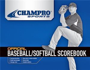 Champro Baseball/Softball Scorebooks A07 C/O