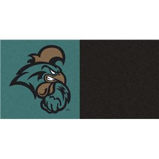 Fan Mats NCAA Coastal Carolina Team Carpet Tiles