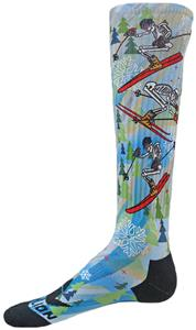 Red Lion Skeleton Skier Knee-High Socks
