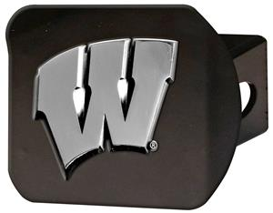 Fan Mats NCAA University of Wisconsin Hitch Cover