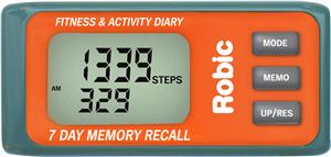 Robic Timer M339 3D Motion Sensor Memory Pedometer